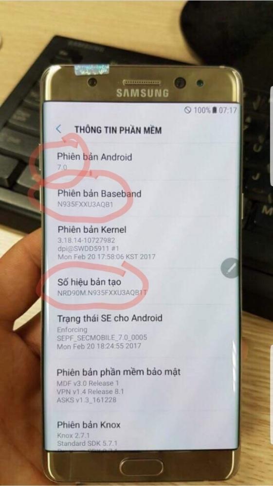 Samsung Galaxy Note 7R Modeli Yeni Bataryası İle Göründü
