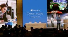 Microsoft Windows 10 Creators Update Güncellemesini Sundu!